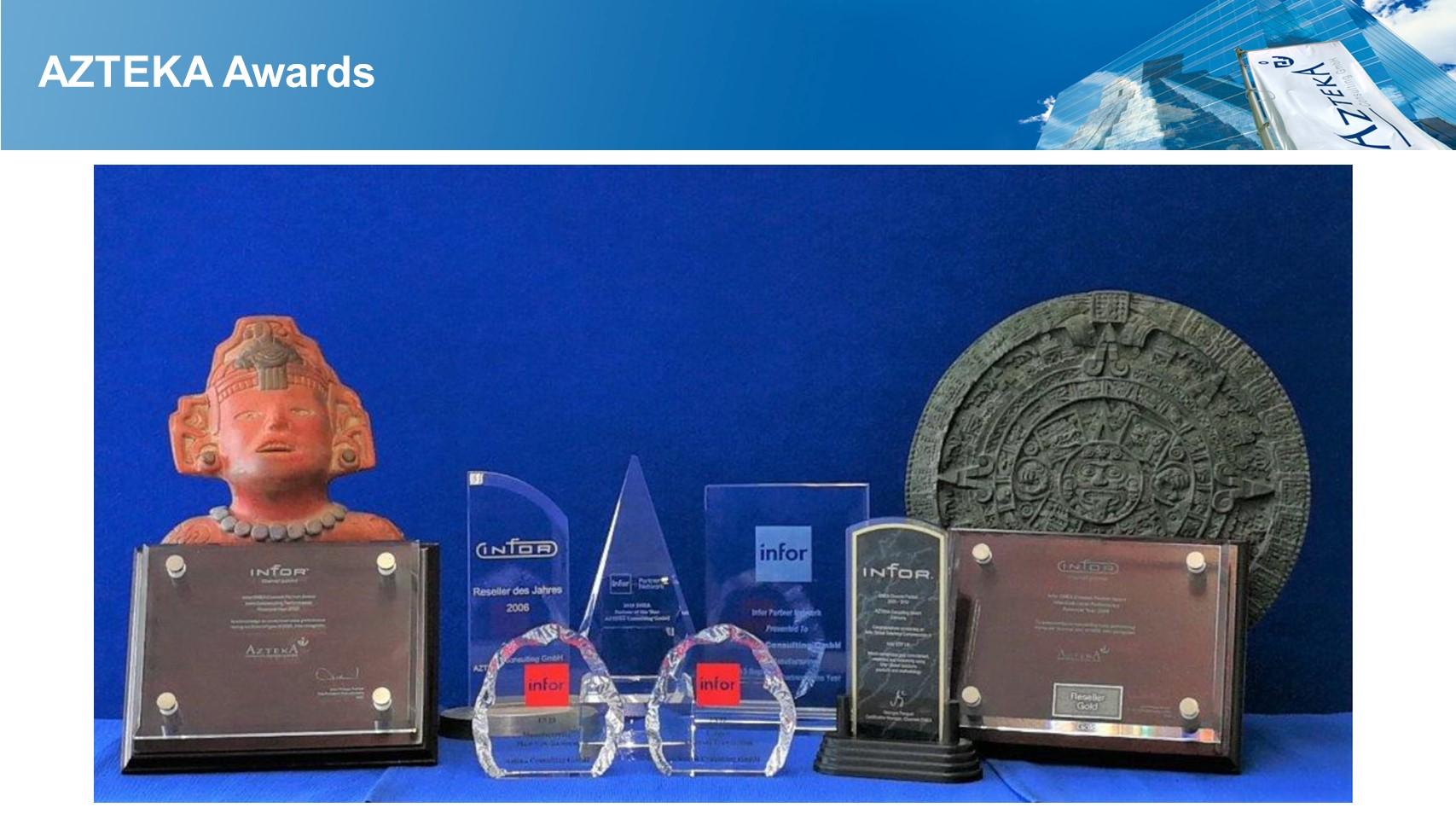Infor Auszeichnungen prägen den Weg der AZTEKA