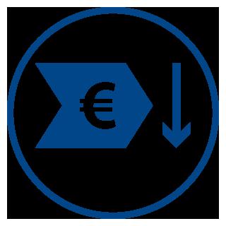 Optimierte Prozesskosten